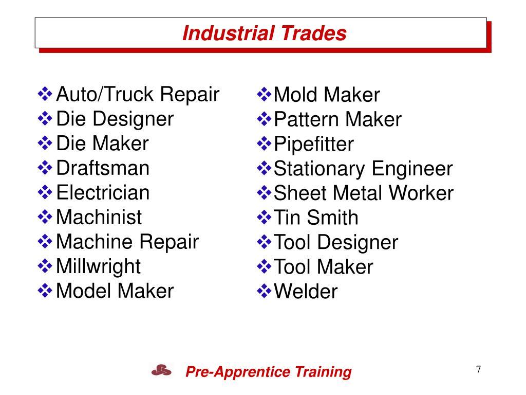 Industrial Trades