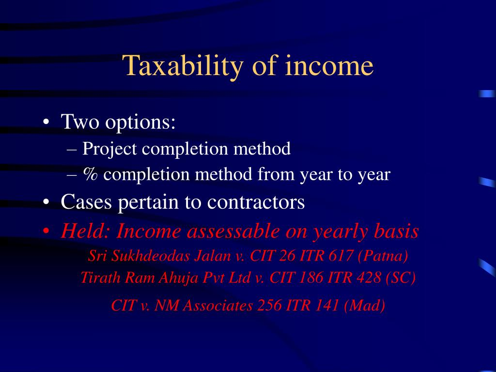 Taxability of income