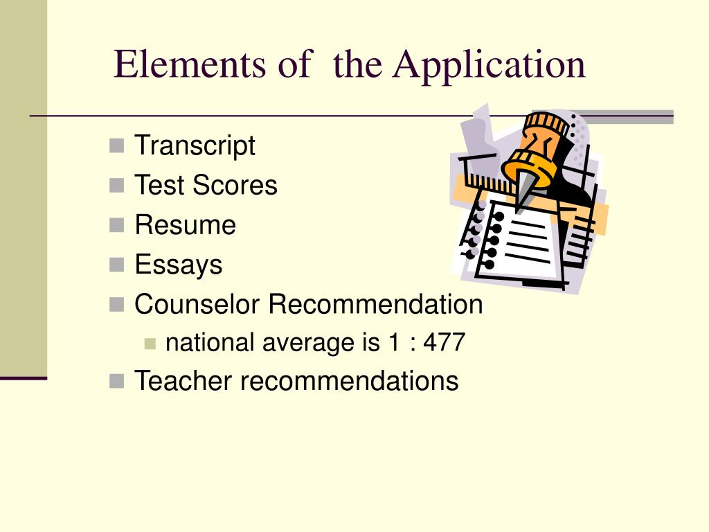 Elements of  the Application