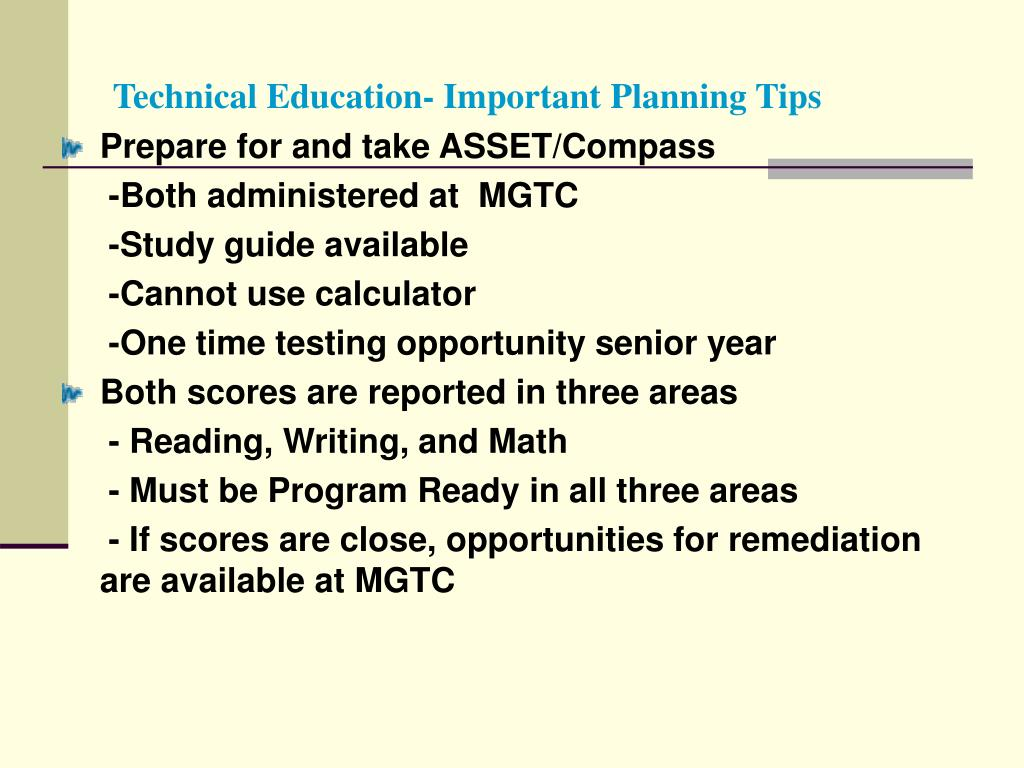 Technical Education- Important Planning Tips