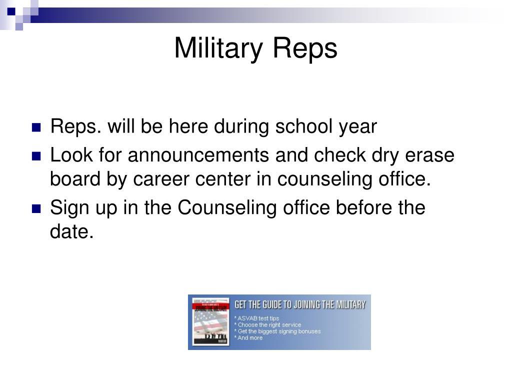 Military Reps