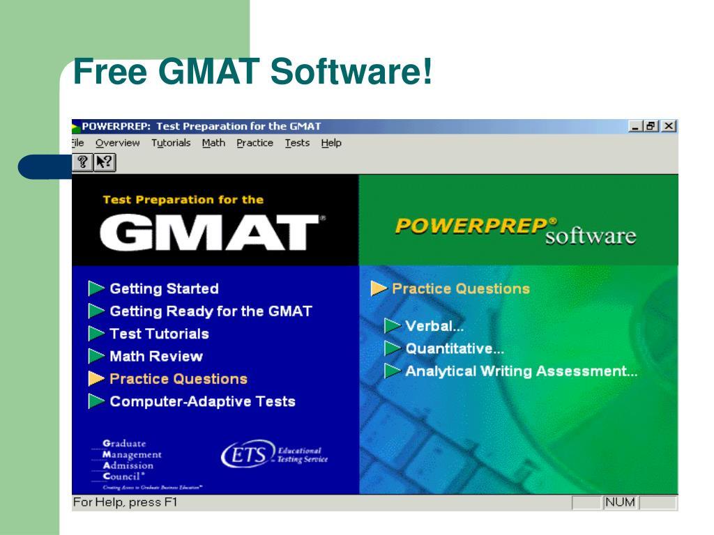 Free GMAT Software!