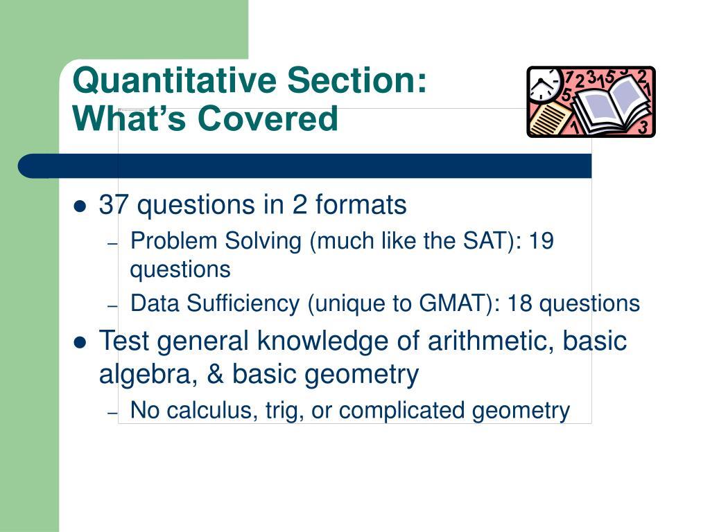 Quantitative Section: