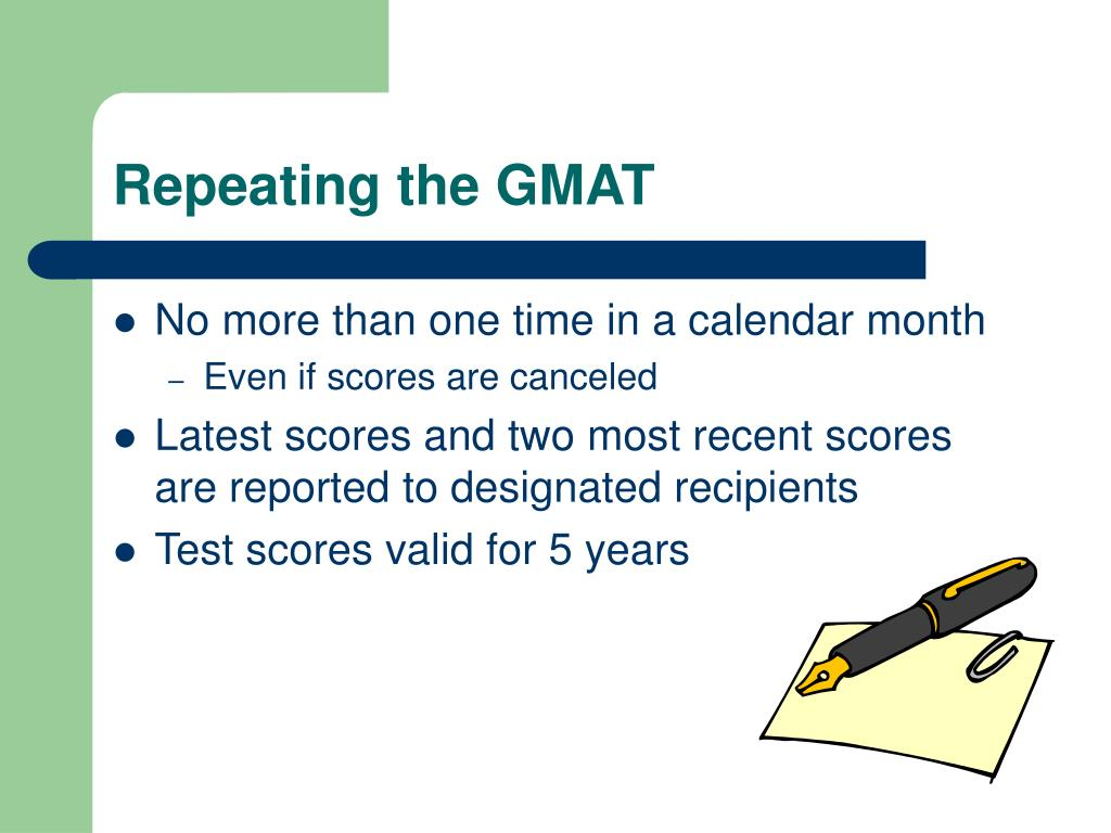 Repeating the GMAT