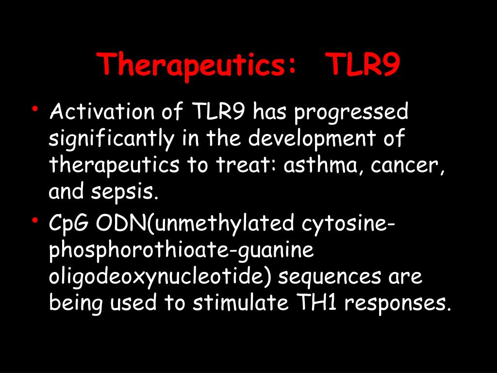 Therapeutics:  TLR9