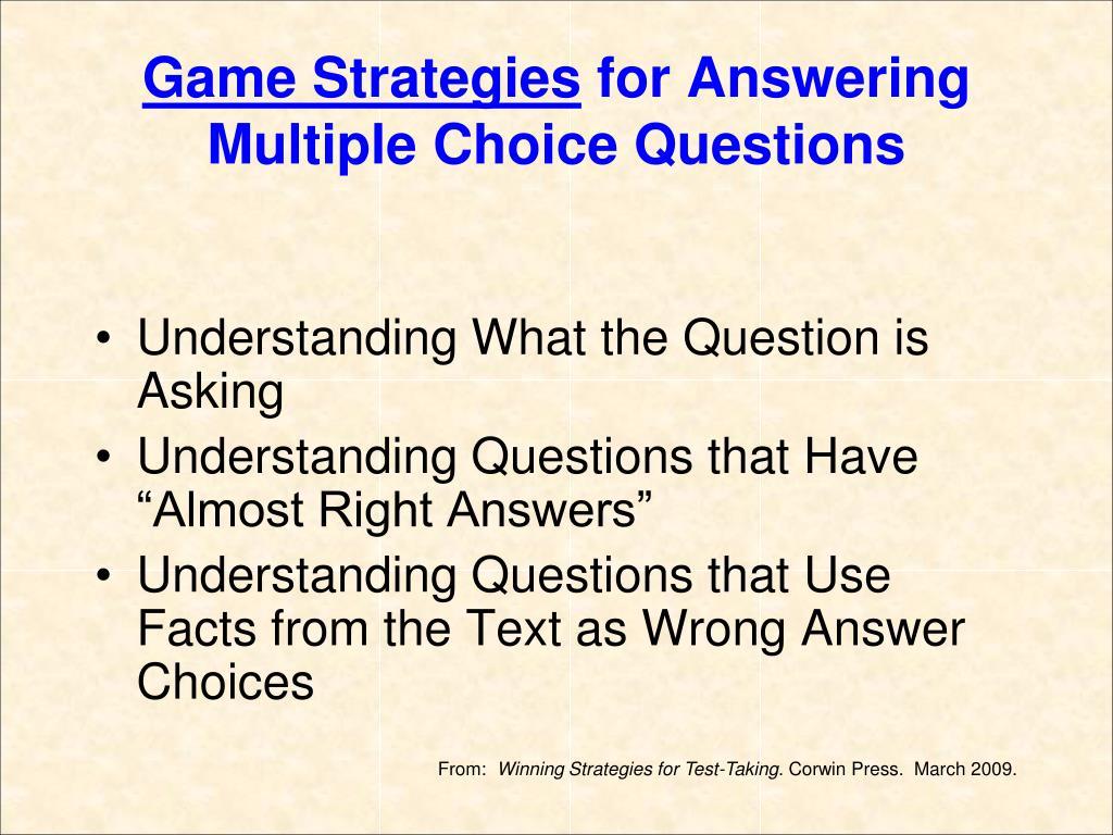 Game Strategies