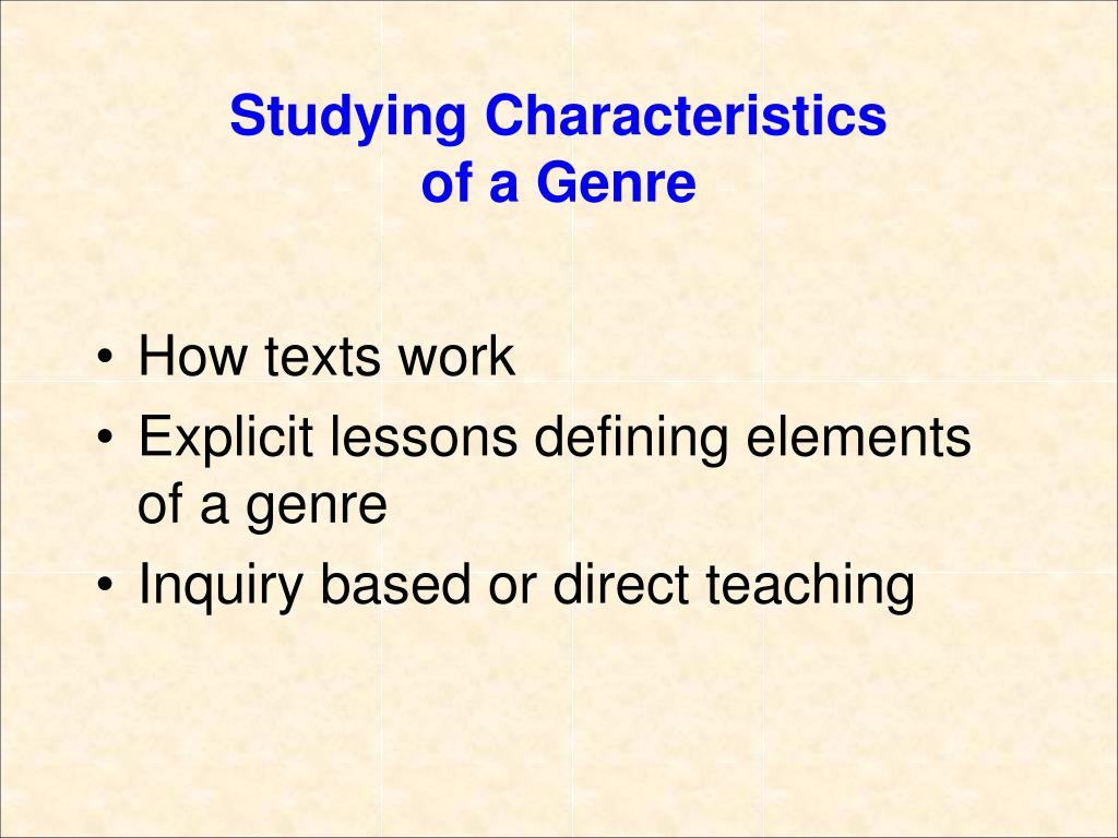 Studying Characteristics