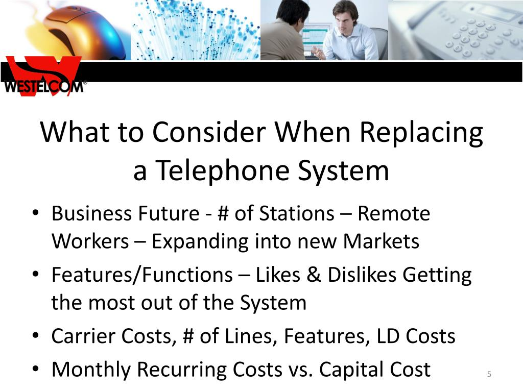 What to Consider When Replacing a Telephone System