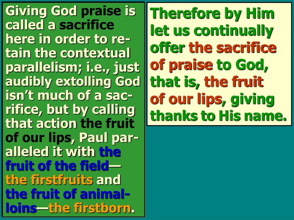 Giving God