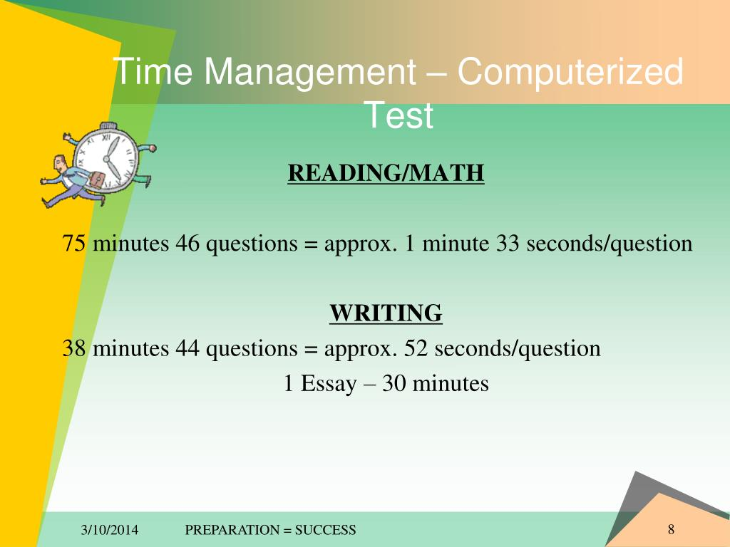 Time Management – Computerized Test