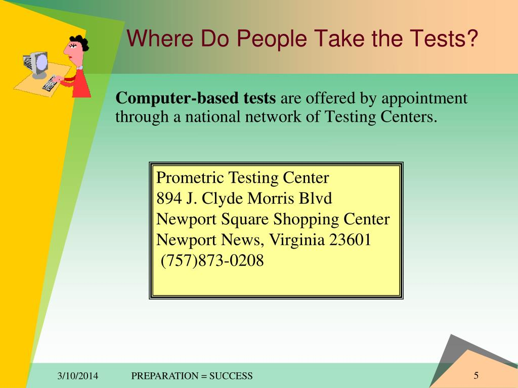 Where Do People Take the Tests?