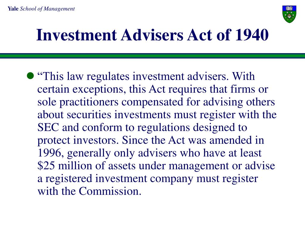 Investment Advisers Act of 1940