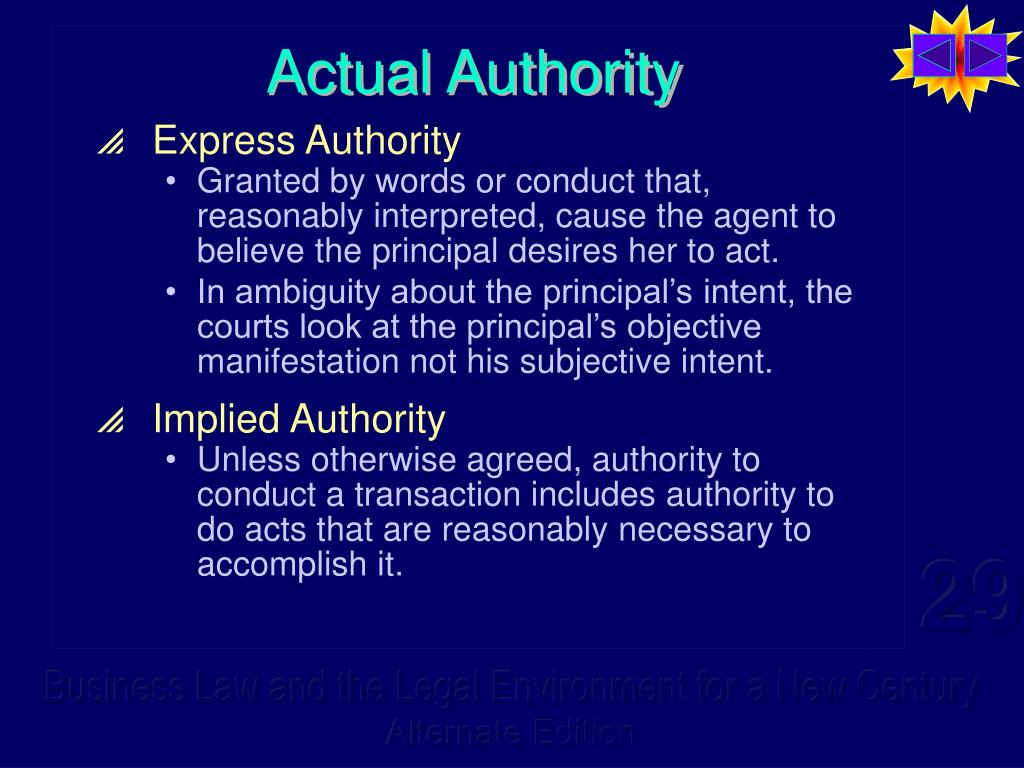 Actual Authority