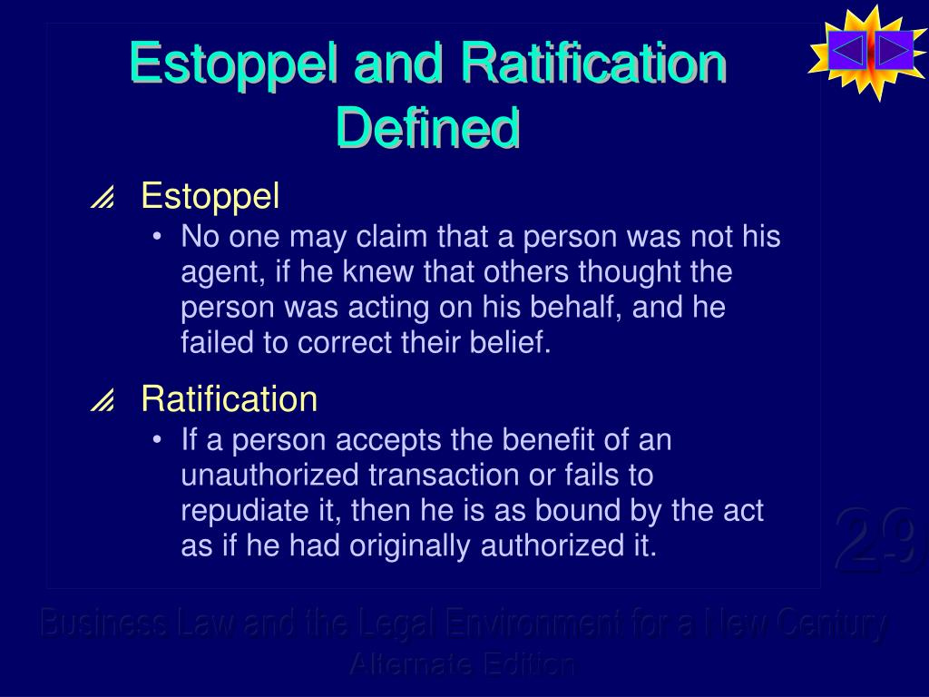 Estoppel and Ratification Defined