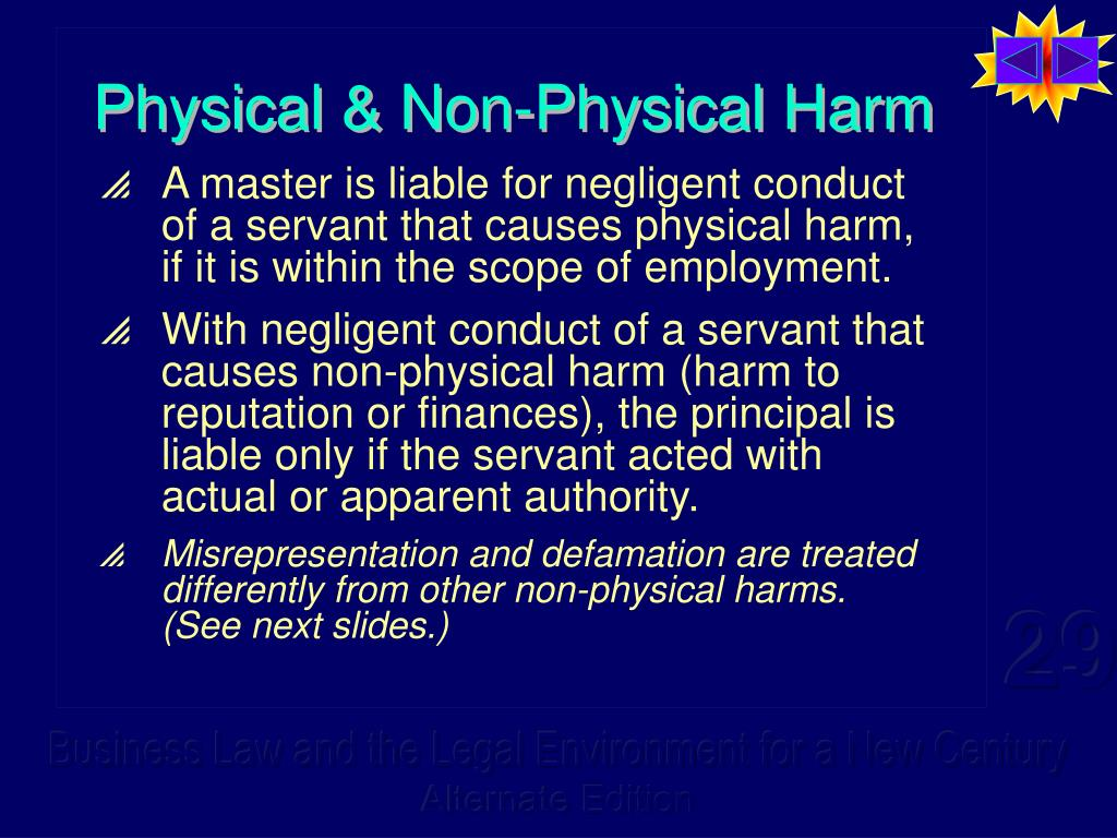 Physical & Non-Physical Harm