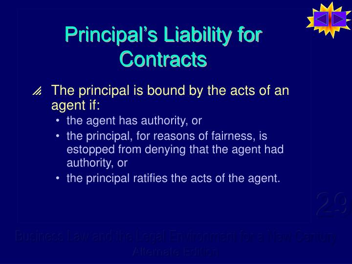 Principal s liability for contracts l.jpg
