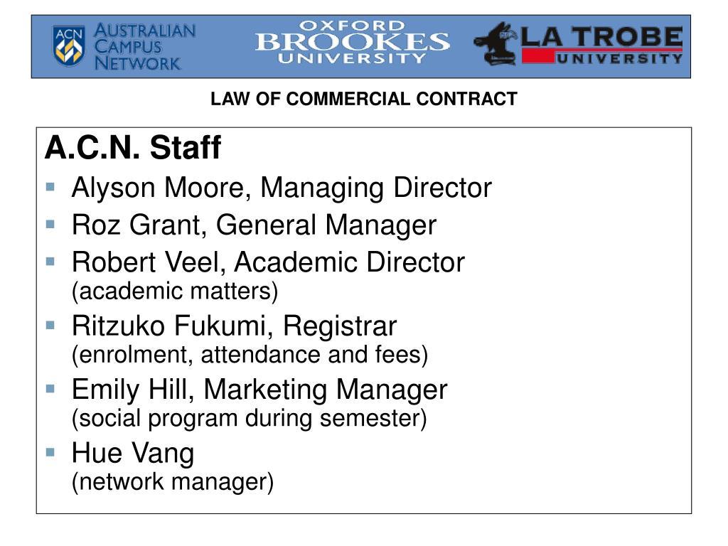 A.C.N. Staff