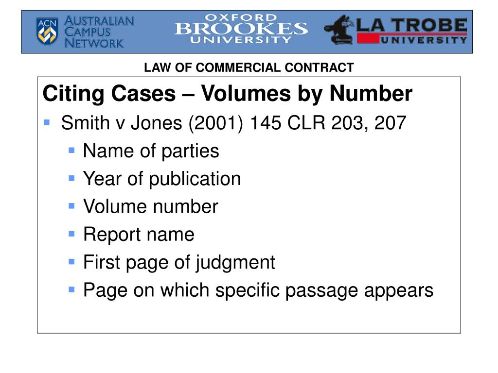 Citing Cases – Volumes by Number