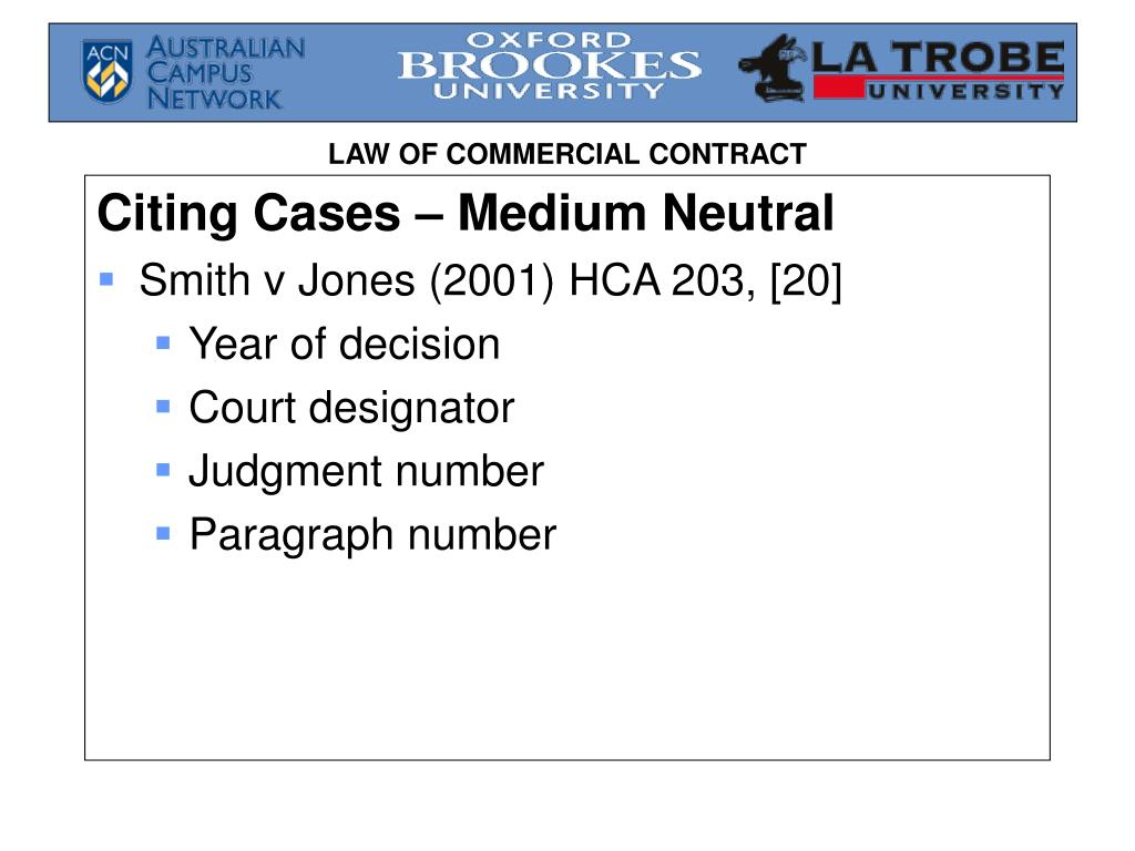 Citing Cases – Medium Neutral