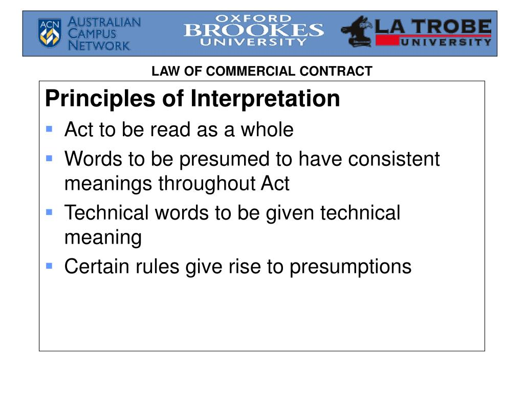 Principles of Interpretation