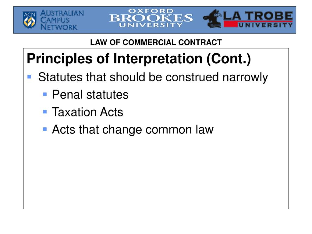 Principles of Interpretation (Cont.)