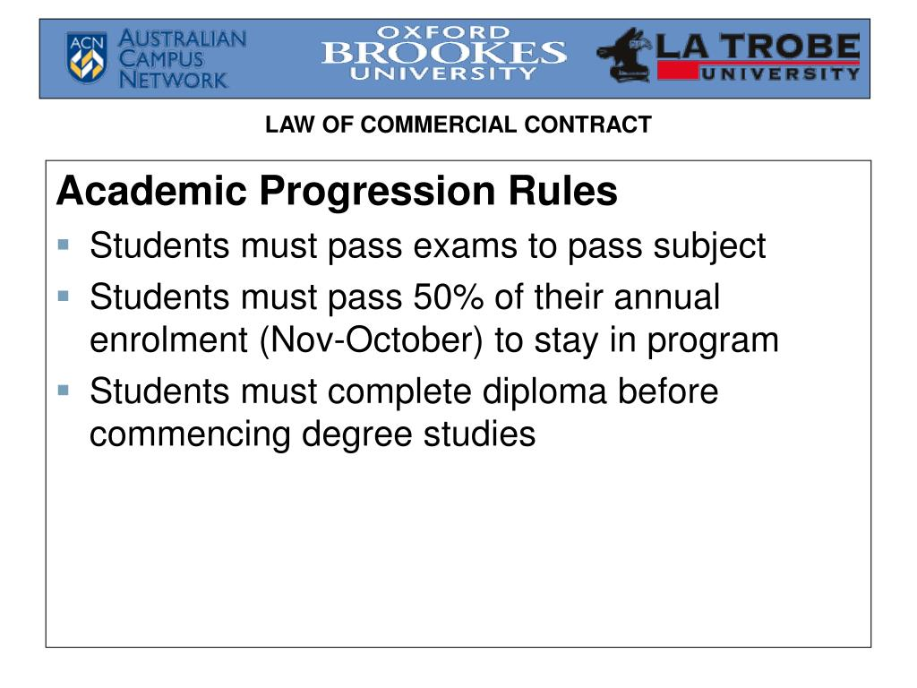 Academic Progression Rules