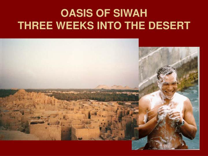 OASIS OF SIWAH