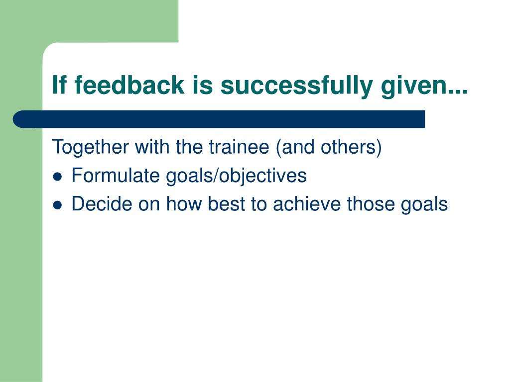 If feedback is successfully given...