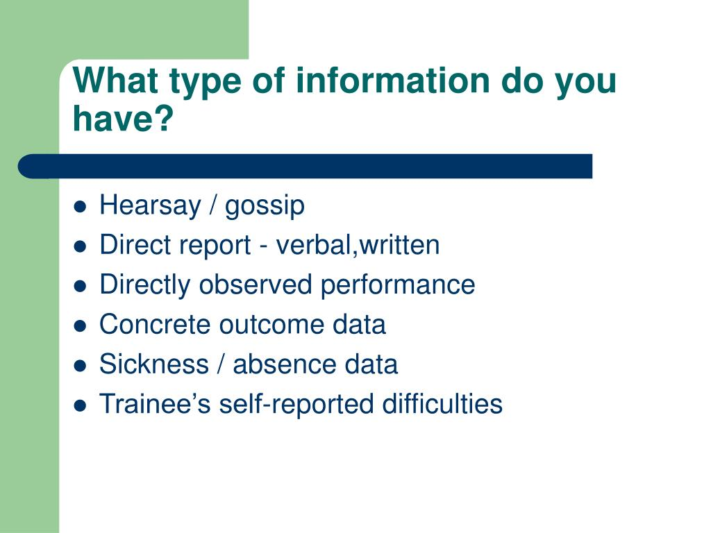 What type of information do you have?