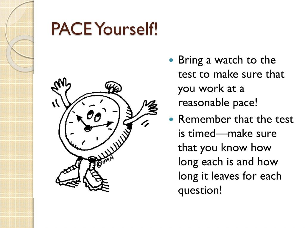 PACE Yourself!