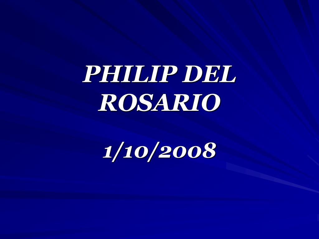 PHILIP DEL ROSARIO