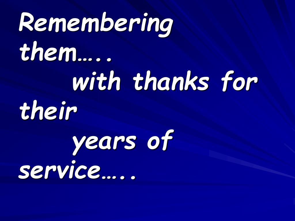 Remembering them…..