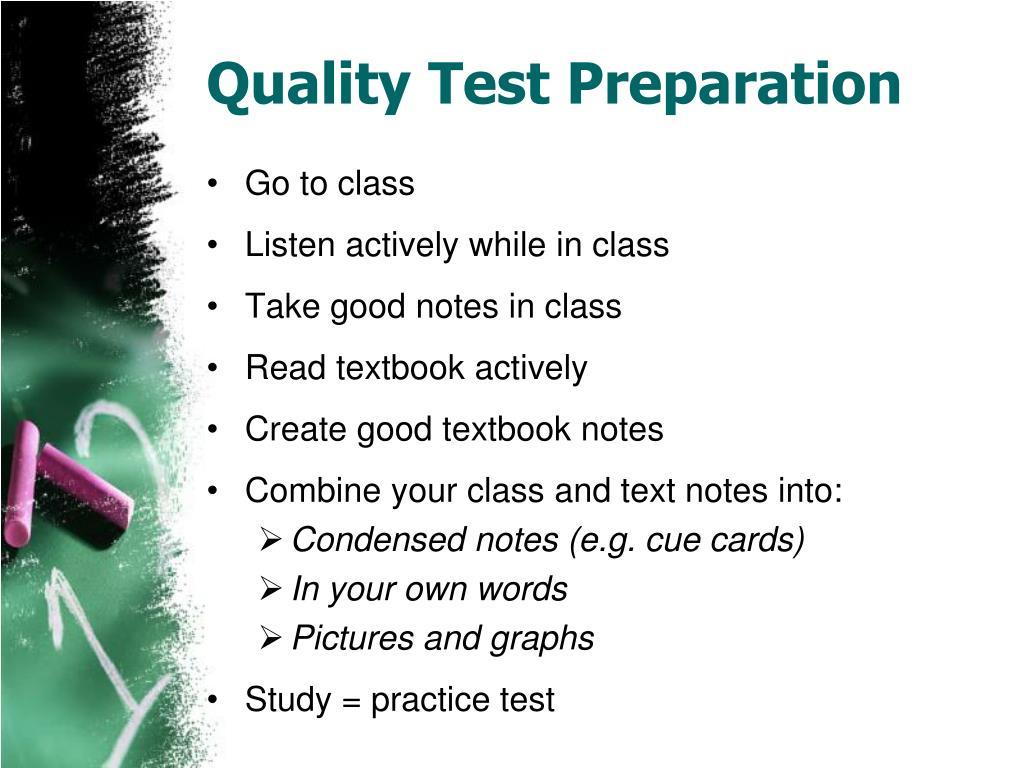 Quality Test Preparation