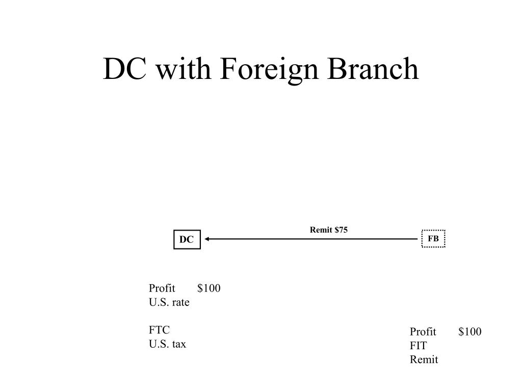 DC with Foreign Branch
