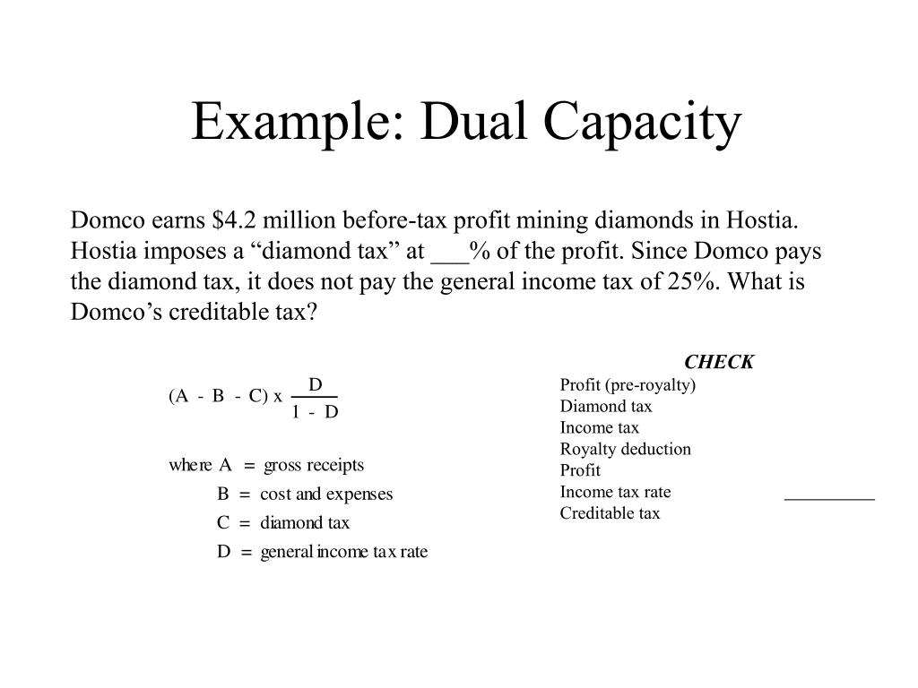 Example: Dual Capacity