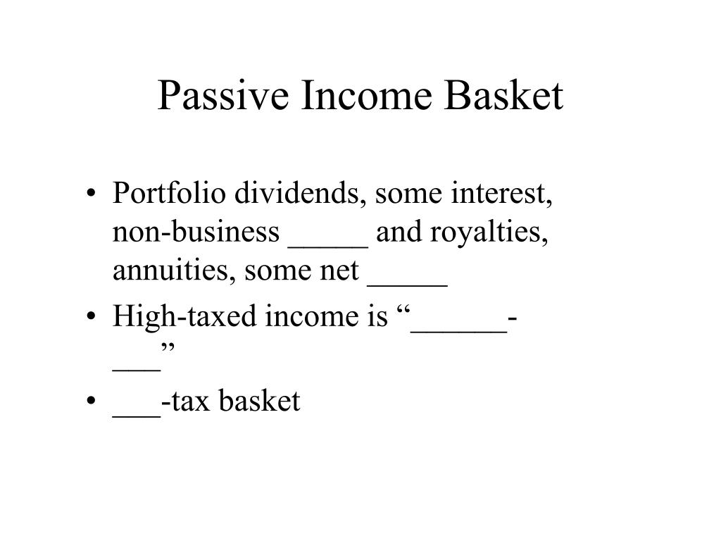 Passive Income Basket