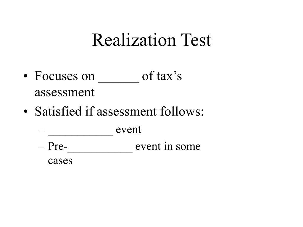 Realization Test