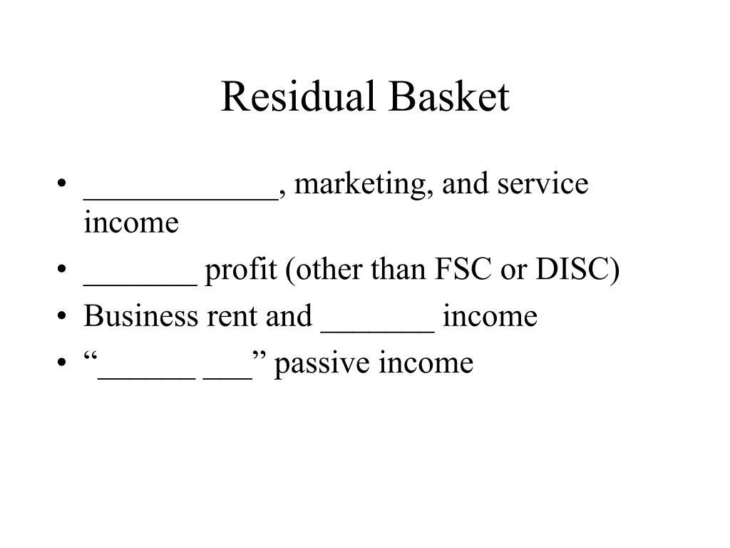 Residual Basket