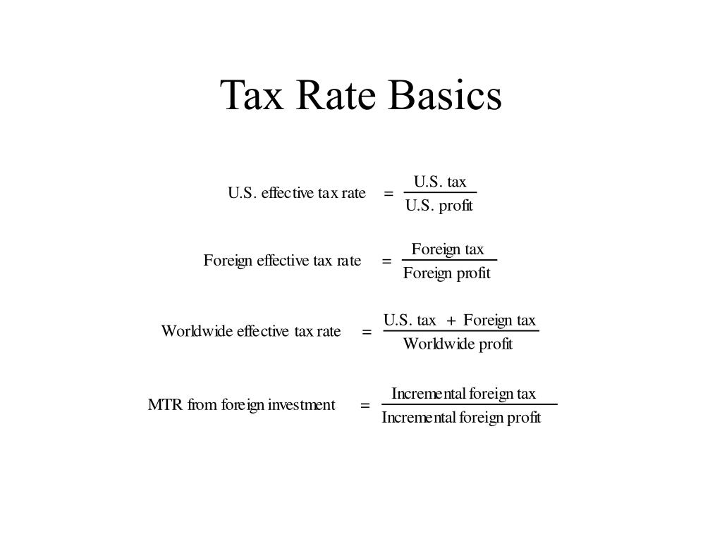 Tax Rate Basics