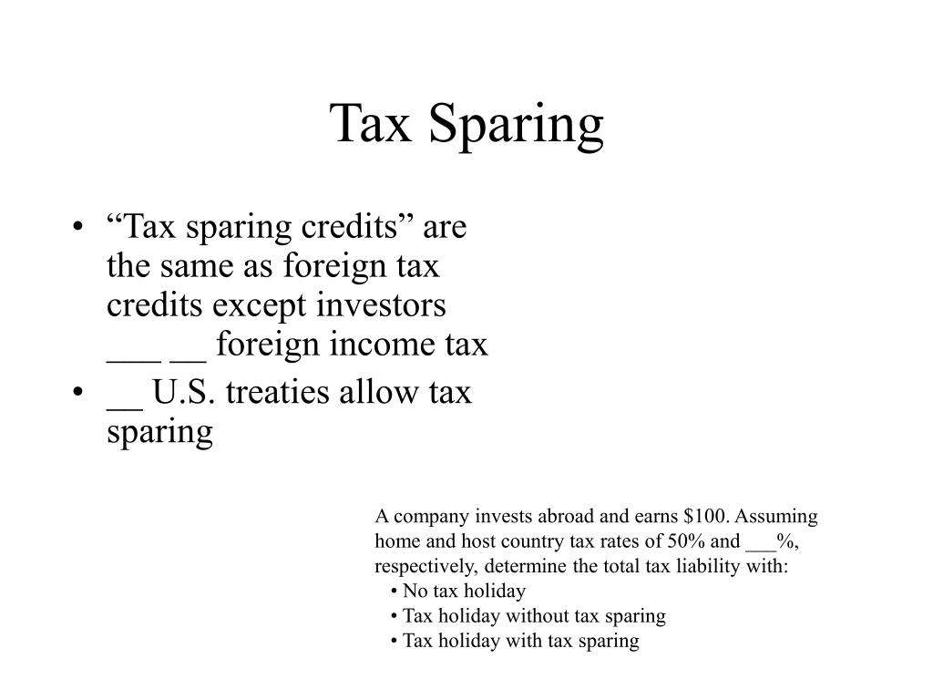 Tax Sparing