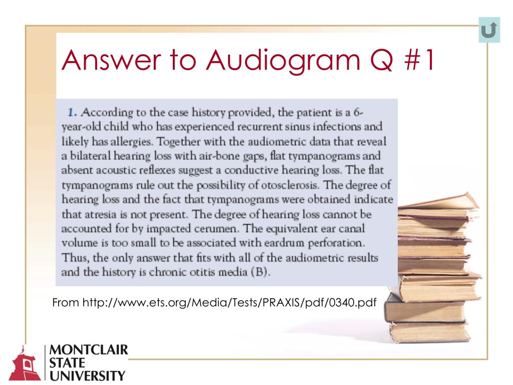 Answer to Audiogram Q #1