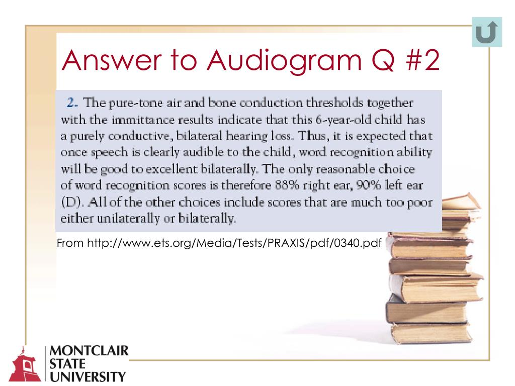 Answer to Audiogram Q #2
