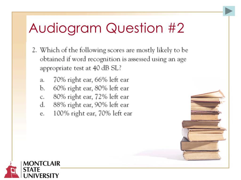 Audiogram Question #2