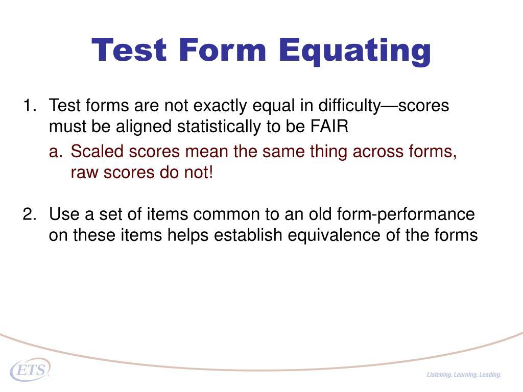 Test Form Equating