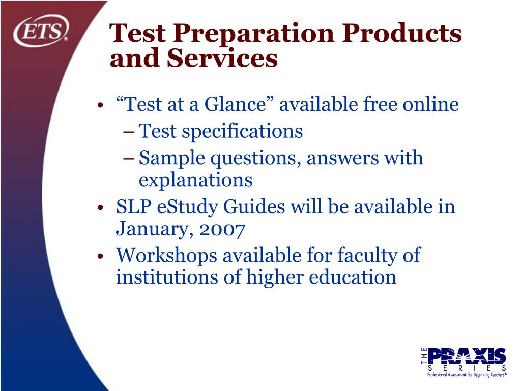 Test Preparation Products and Services