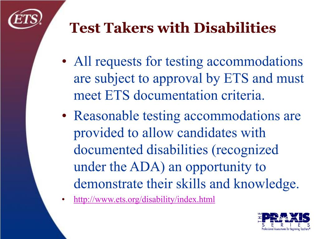 Test Takers with Disabilities