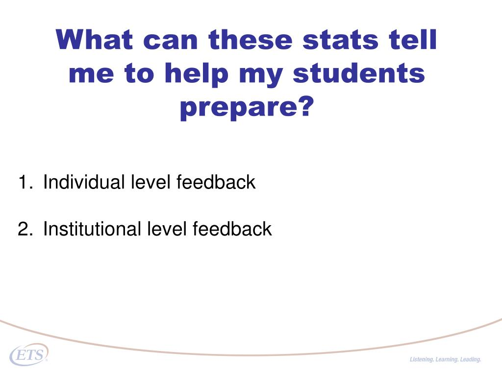 What can these stats tell me to help my students prepare?