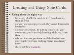 creating and using note cards13