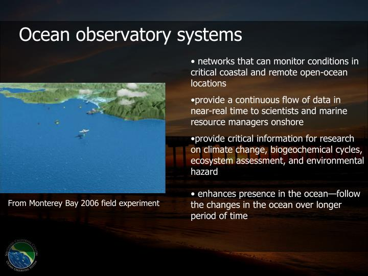 Ocean observatory systems