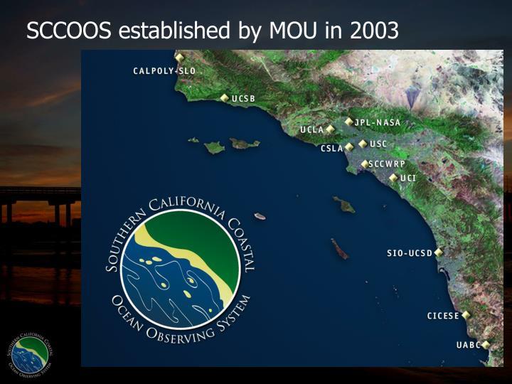 SCCOOS established by MOU in 2003